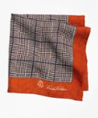 Brooks Brothers Plaid And Paisley Pocket Square