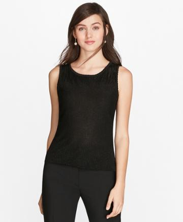 Brooks Brothers Women's Shimmer Knit Shell