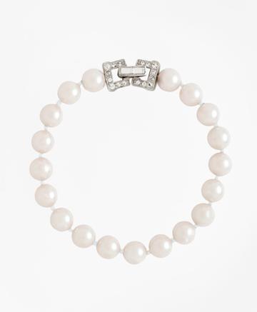 Brooks Brothers Women's Glass Pearl Bracelet