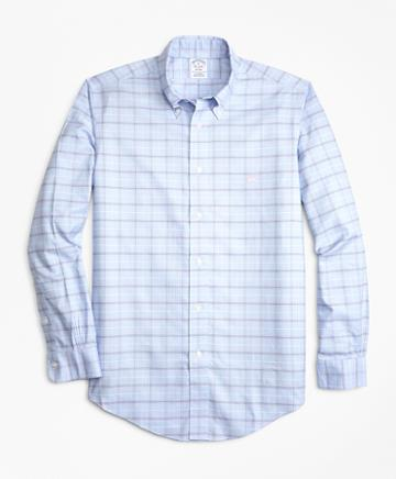 Brooks Brothers Non-iron Regent Fit Double-grid Check Sport Shirt
