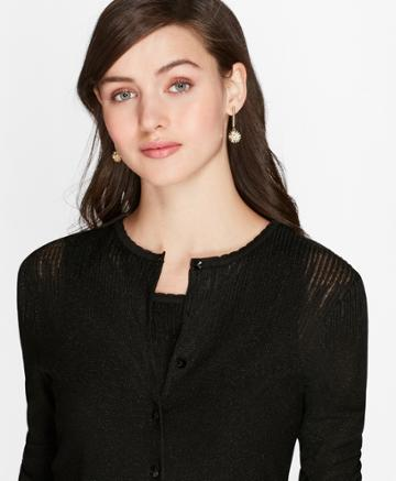 Brooks Brothers Women's Shimmer Knit Cardigan