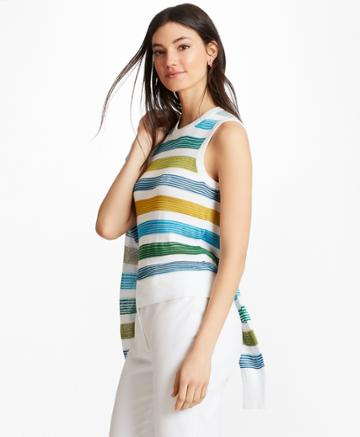 Brooks Brothers Women's Striped Supima Cotton-blend Shell