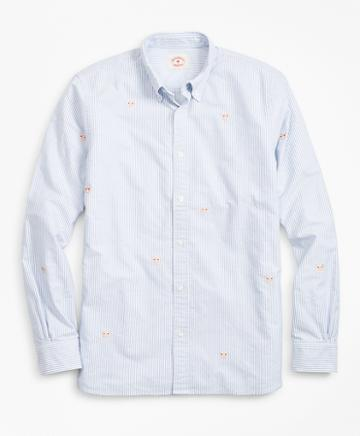 Brooks Brothers Year Of The Pig Striped Oxford Sport Shirt