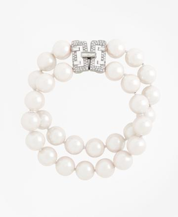 Brooks Brothers Women's Double-strand Glass Pearl Bracelet