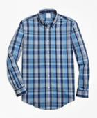 Brooks Brothers Non-iron Regent Fit Heathered Madras Sport Shirt