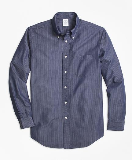 Brooks Brothers Regent Fit Seersucker Sport Shirt
