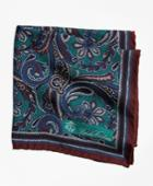 Brooks Brothers Men's Paisley And Dot Pocket Square