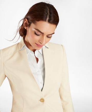Brooks Brothers Double-weave One-button Jacket