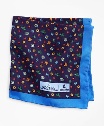 Brooks Brothers Hummingbird Collection For St. Jude-pocket Square