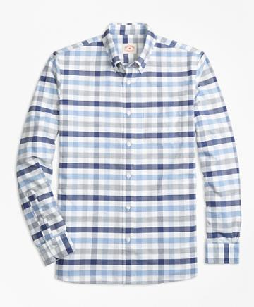 Brooks Brothers Checked Supima Cotton Oxford Sport Shirt