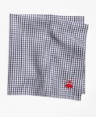 Brooks Brothers Men's Micro Check Pocket Square