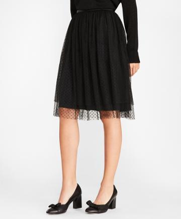 Brooks Brothers Women's Polka-dot Tulle Skirt