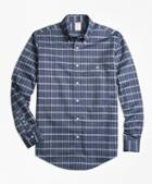 Brooks Brothers Non-iron Madison Fit Heathered Check Sport Shirt