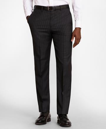 Brooks Brothers Brooksgate Regent-fit Striped Wool Twill Suit Pants