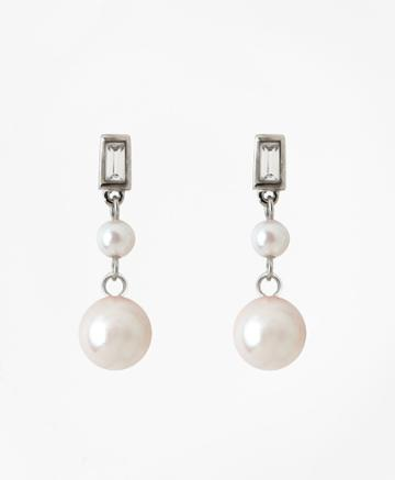 Brooks Brothers Women's Glass Pearl Drop Earrings