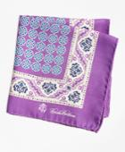 Brooks Brothers Men's Paisley And Circle Link Pocket Square