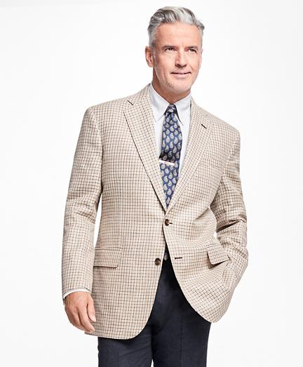 Brooks Brothers Madison Fit Olive And Brown Multi Check Sportcoat