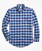 Brooks Brothers Non-iron Brookscool Regent Fit Gingham Sport Shirt