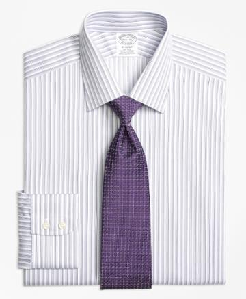 Brooks Brothers Men's Slim Fitted Dress Shirt, Non-iron Twin Stripe