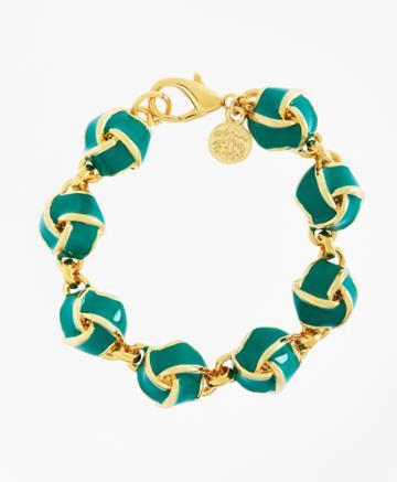 Brooks Brothers Women's Enamel Knot Link Bracelet