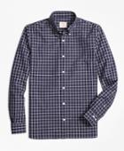 Brooks Brothers Men's Windowpane Broadcloth Sport Shirt