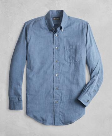 Brooks Brothers Men's Golden Fleece Regent Fit Flannel Sport Shirt