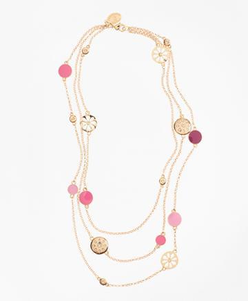 Brooks Brothers Three-strand Enamel Charm Necklace