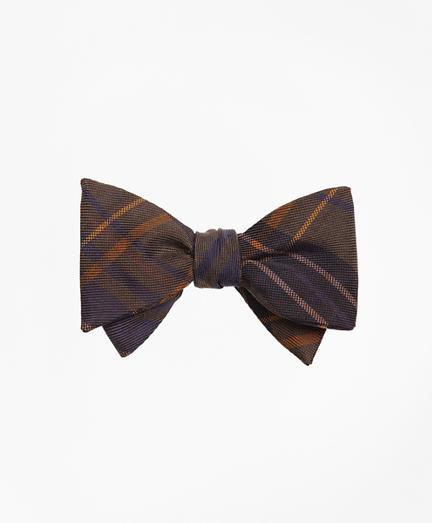 Brooks Brothers Ancient Madder Plaid Print Bow Tie