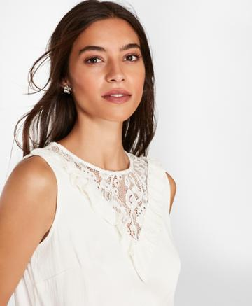 Brooks Brothers Women's Lace-trimmed Blouse