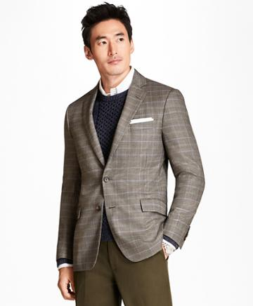 Brooks Brothers Regent Fit Tic With Double-windowpane Sport Coat