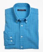 Brooks Brothers Seersucker Micro Gingham Sport Shirt