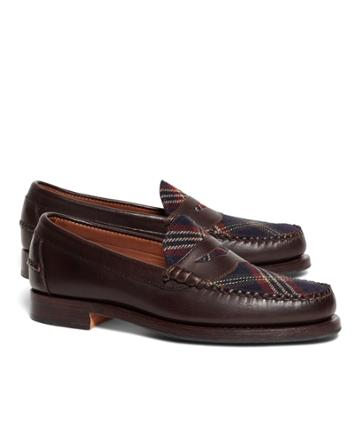Brooks Brothers Men's Brooks Brothers Signature Tartan Penny Loafers