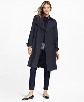 Brooks Brothers Stretch Wool Trench Coat