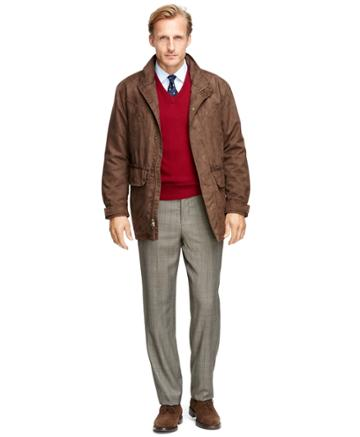 Brooks Brothers Men's Brooks Brothers And Beretta Brown Hunting Jacket