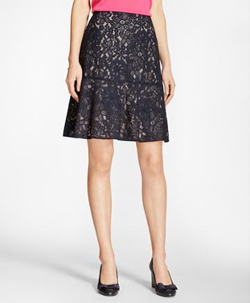 Brooks Brothers Floral Lace Skirt