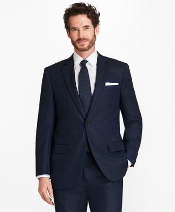 Brooks Brothers Madison Fit Textured Alternating Stripe 1818 Suit