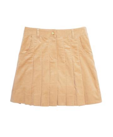 Brooks Brothers Corduroy Pleated Skirt