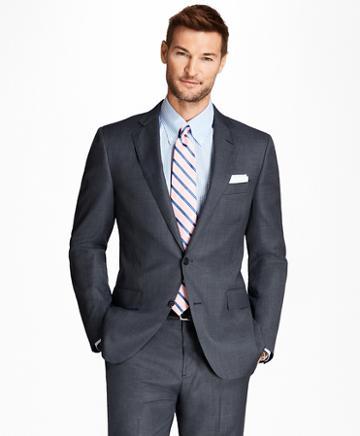 Brooks Brothers Regent Fit Saxxon Wool Bird's-eye 1818 Suit