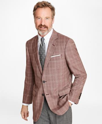 Brooks Brothers Madison Fit Rust With Tan Check Sport Coat