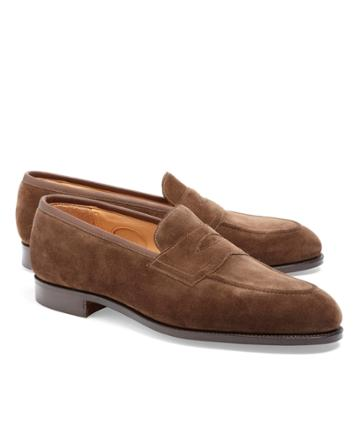 Brooks Brothers Men's Edward Green Piccadilly Suede Loafers