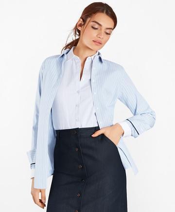Brooks Brothers Classic-fit Striped Supima Cotton Stretch Poplin Shirt