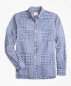 Brooks Brothers Gingham Patchwork Madras Sport Shirt