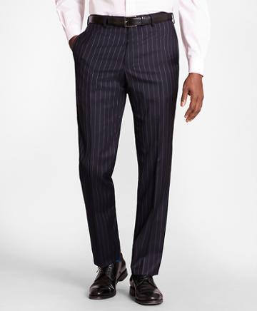 Brooks Brothers Brooksgate Regent-fit Bead-stripe Wool Twill Suit Pants