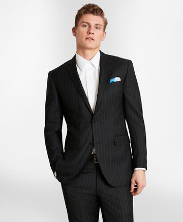 Brooks Brothers Brooksgate Milano-fit Striped Wool Twill Suit Jacket