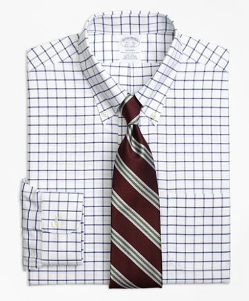 Brooks Brothers Regent Fitted Dress Shirt, Non-iron Tattersall
