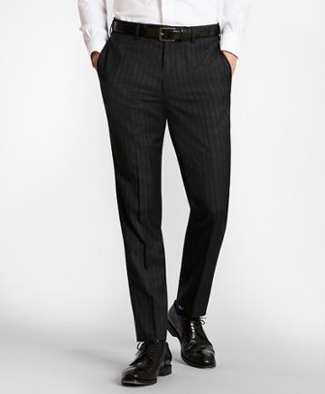 Brooks Brothers Brooksgate Milano-fit Striped Wool Twill Suit Pants