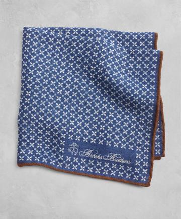 Brooks Brothers Men's Golden Fleece Geometric Flower Pocket Square