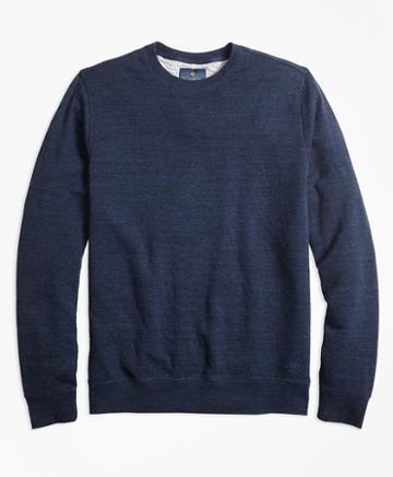 Brooks Brothers Garment-washed Crewneck Sweatshirt