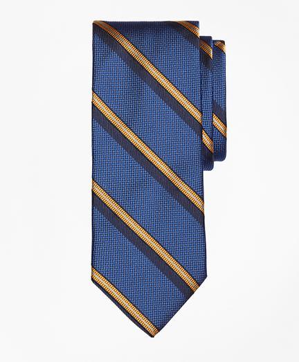 Brooks Brothers Textured Split Sidewheeler Stripe Tie
