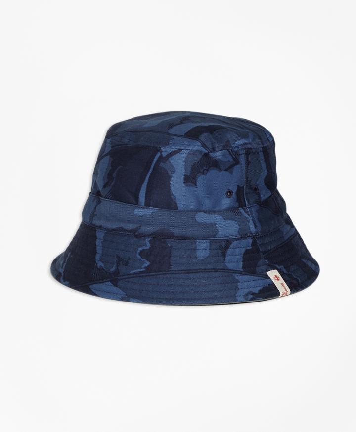Brooks Brothers Men's Reversible Cotton Bucket Hat